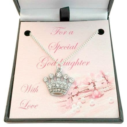 Girls Necklace with Crown for Sister, Daughter etc