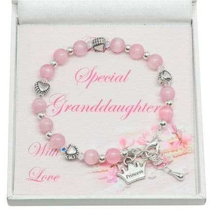 Girls Pink Bracelet for Granddaughter, Daughter etc