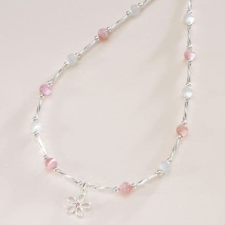Girls Princess Flower Necklace