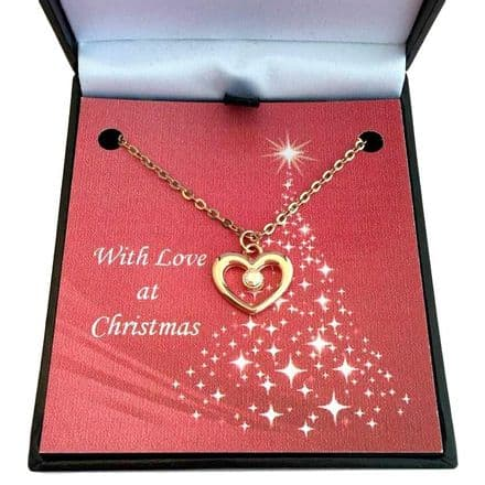 Heart Necklace in Rose Gold for Christmas