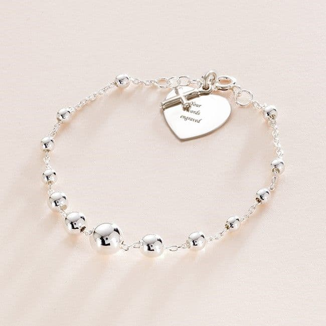 Holy Communion Charm Bracelet with Engraving | Jewels 4 Girls