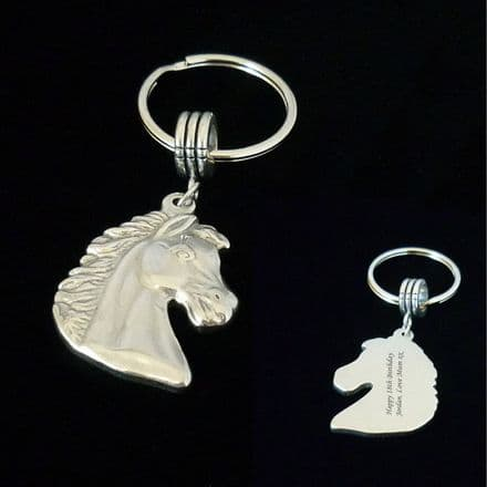 Horse Keyring Personalised with Any Engraving Equestrian Gift