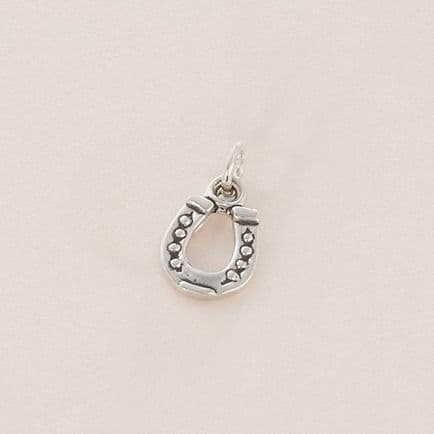 Horseshoe Charm, Sterling Silver
