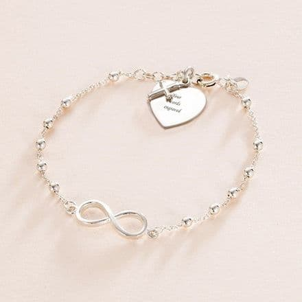 Infinity Bracelet, Personalised for First Holy Communion