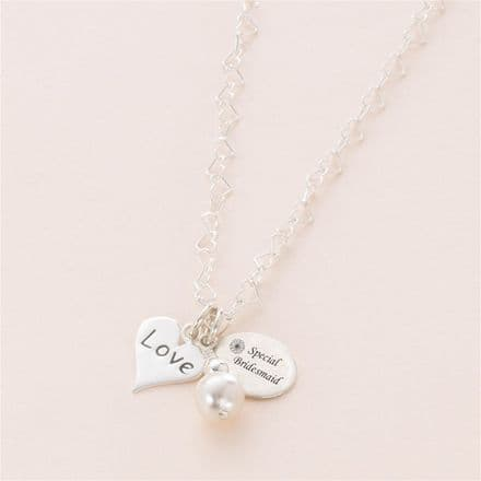Love Necklace With Engraved Tag Choice