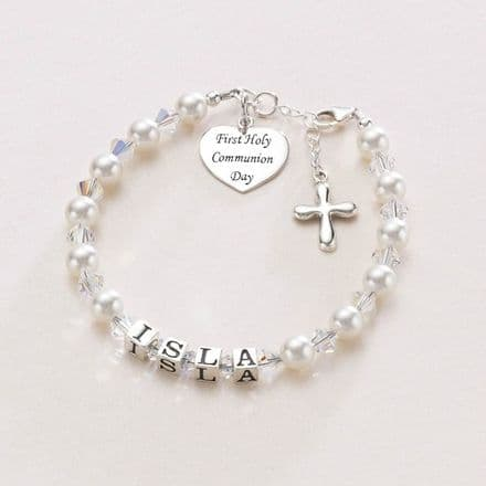 Luxury First Holy Communion Personalised Name Bracelet