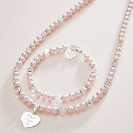Made for a Princess Pearl Set - Free Engraving