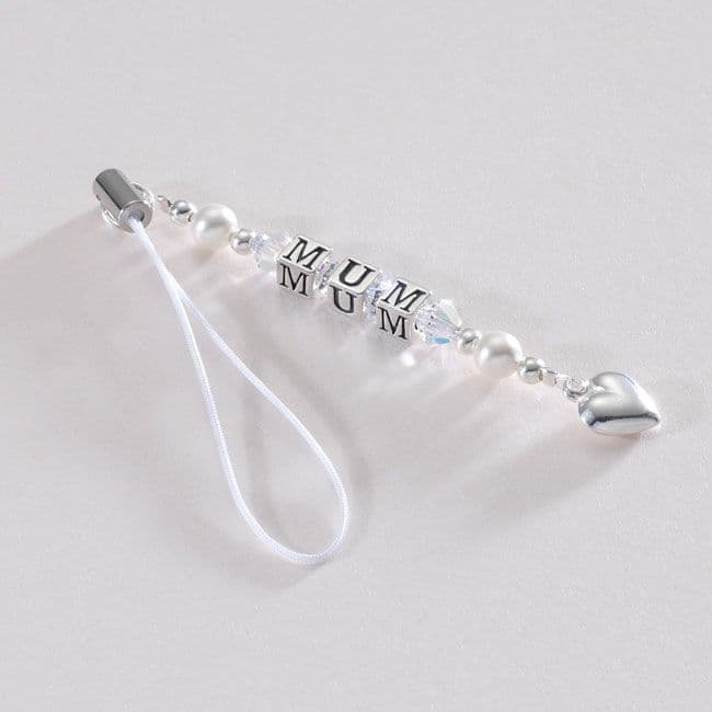 Mum Charm Sterling Silver and Crystal   Jewels 4 Girls