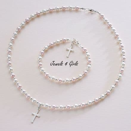 Pearl Baptism Jewellery Set