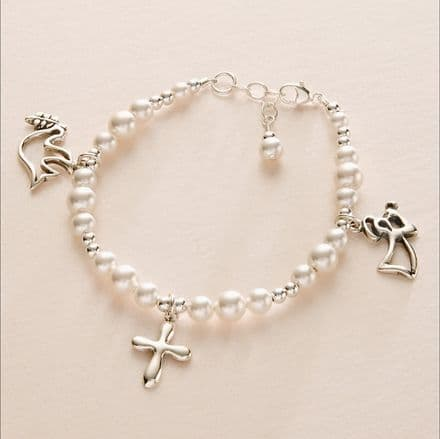 Pearl Charm Bracelet including Charms