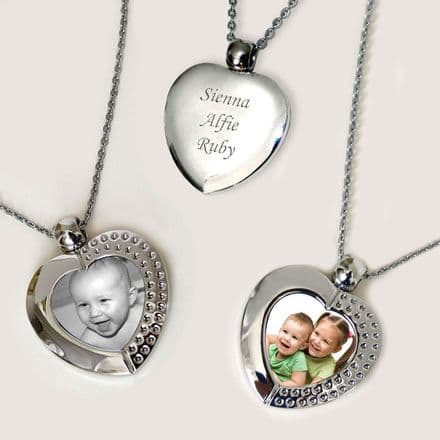 Permanent Photo Pendant with Engraving