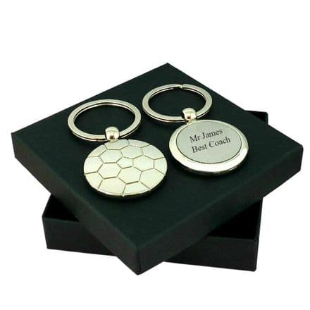 Personalised Football Keyring in Gift Box