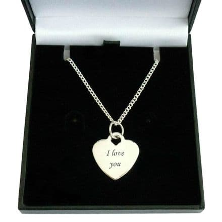 Personalised Heart Necklace in a Valentines Gift Box