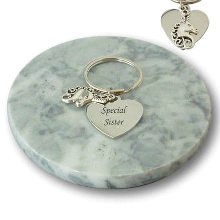 Personalised Unicorn Keyring in Gift Box