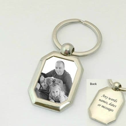Photo Keyring with Any Photo and Engraving