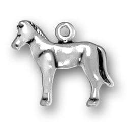 Pony Charm, Sterling Silver