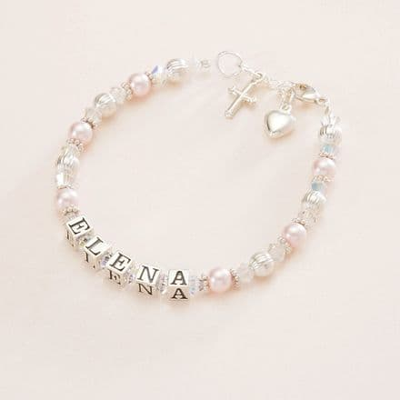 Pretty Girls Name Bracelet for First Holy Communion