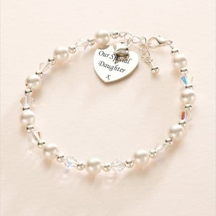 Rochelle Personalised Bracelet with Engraved Pendant