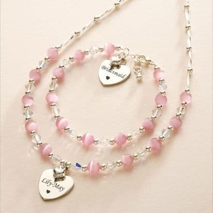Rosa Jewellery Set with Engraved Hearts