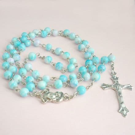 Rosary Beads for Children, Pale Blue