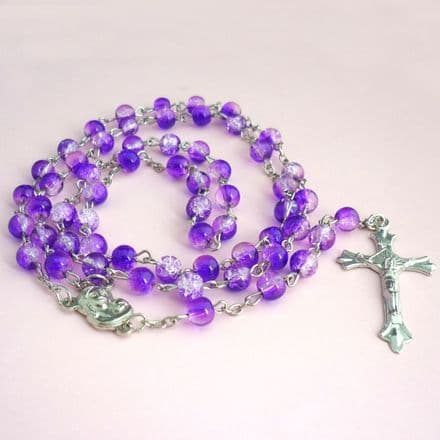 Rosary Beads for Children, Purple