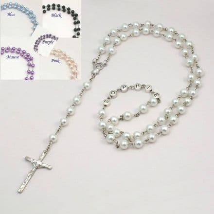 Rosary Beads with Name - Various Colours
