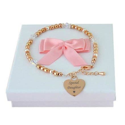 Rose Gold and Silver Plated Bracelet with Engraving
