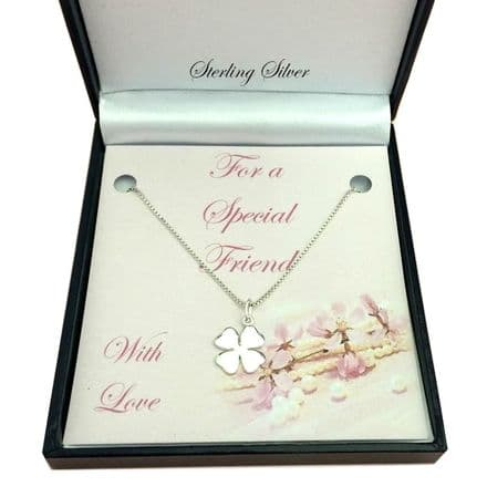Silver Necklace, Charm Choice, on Card Mount.