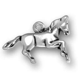 Silver Running Horse Charm