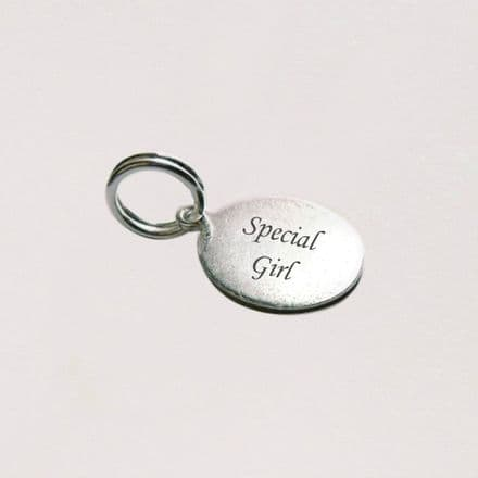 Silver Special Girl Tag