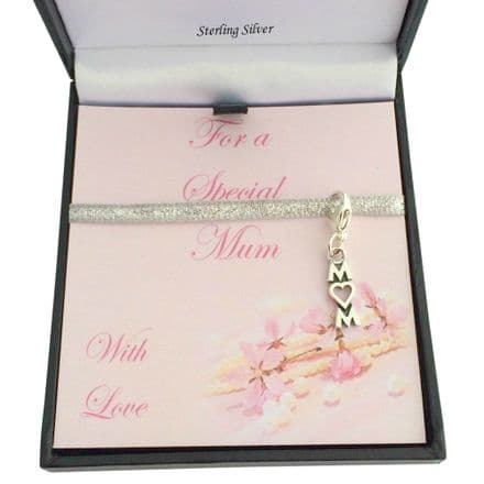 Sterling Silver Mum Charm in Gift Box