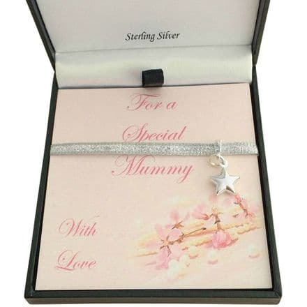 Sterling Silver Star Charm, Gift Boxed for Mummy, Nanny etc
