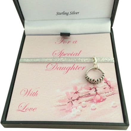 Sterling Silver Tiara Charm, Gift Boxed for Daughter, Niece etc