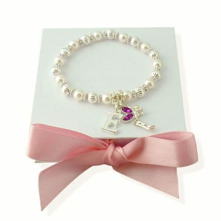 Tinker Bell Bracelets for Girls with Letter Charm