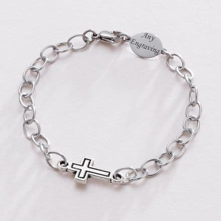 Unisex Personalised Bracelet with Engravable Oval