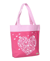 Large Canvas Tote - Heart