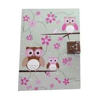 Lockable Diary - Owl