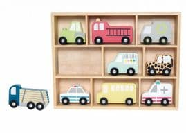 Shelf with cars