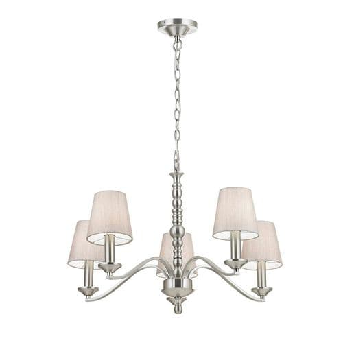 Endon Astaire 5lt Pendant 40w ASTAIRE-5SN By Massive Lighting