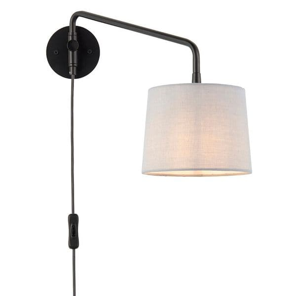 Endon Carlson Wall Plug In  SW 79500 By Massive Lighting
