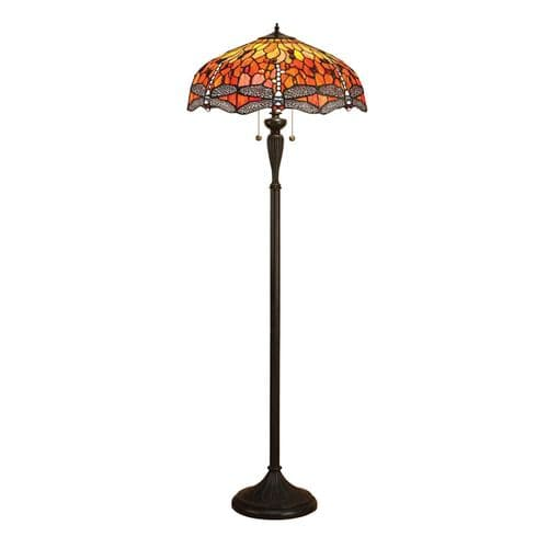 Endon Dragonfly Flame Floor 60w SW 64070 By Massive Lighting