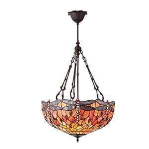 Endon Dragonfly Flame Large Inverted 3lt Pendant 60w 70762 By Massive Lighting