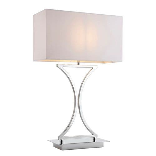 Endon Epalle Table 60w SW 96930-TLCH By Massive Lighting