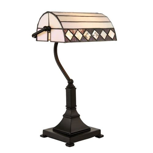 Endon Fargo Bankers Table 25w SW 70908 By Massive Lighting