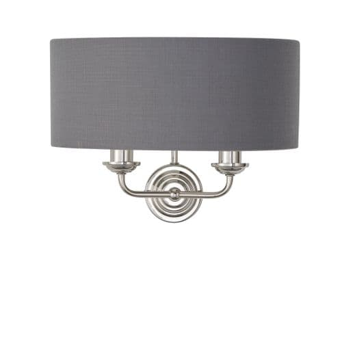 Endon Highclere Charcoal 2lt Wall 94406 By Massive Lighting