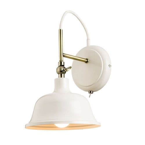 Endon Laughton 1lt Wall 40w SW 60842 By Massive Lighting