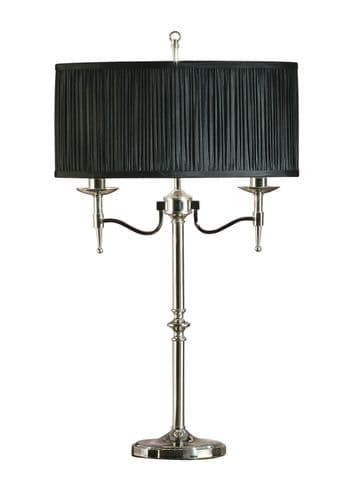 Endon Standford Nickel Table & Black Shade 40w SW 63652 By Massive Lighting