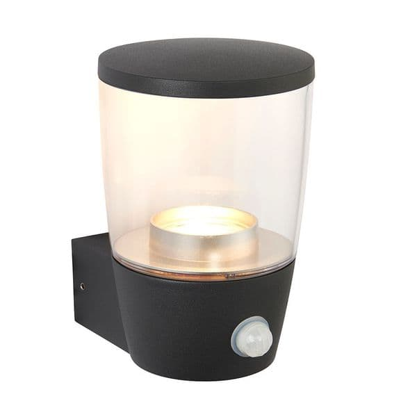 Saxby  Canillo PIR 1lt Wall IP44 3.5w Cool White 67698 By Massive Lighting