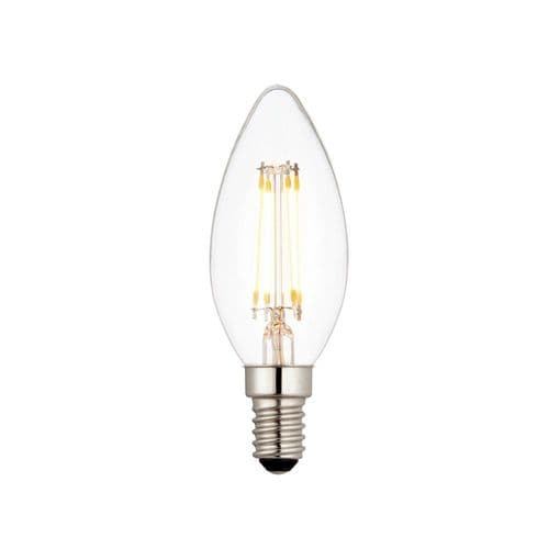 Saxby E14 LED Filament Candle 4w Warm White 94341 By Massive Lighting
