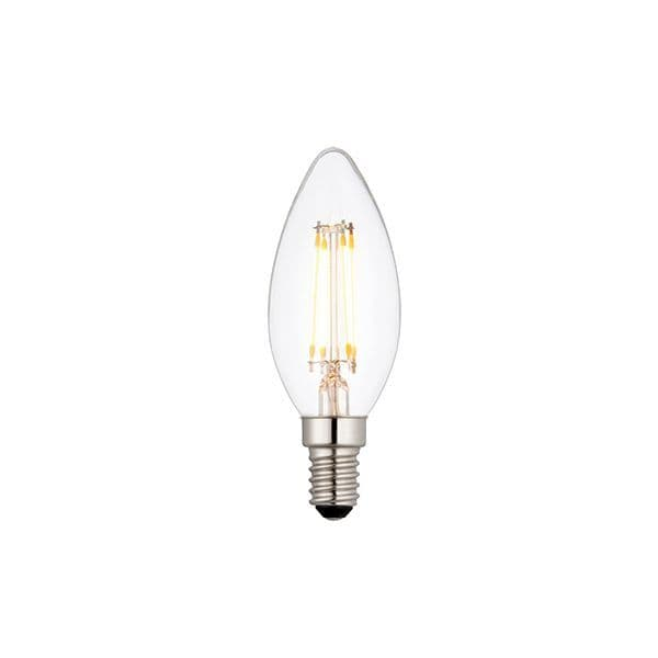 Saxby E14 LED Filament Candle Dimmable 4w Warm White 76798 By Massive Lighting